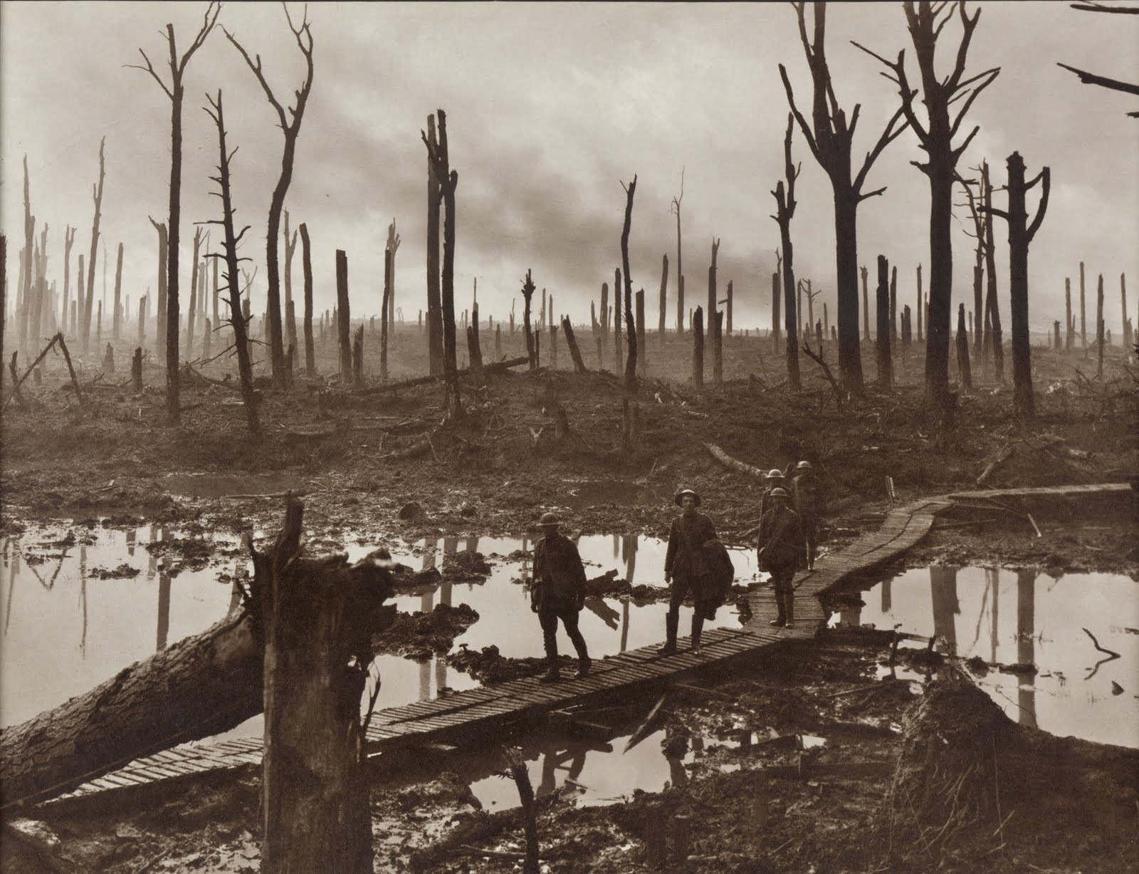 Australian Soldiers, Chateau Wood, Ypres, Belgium, 1917