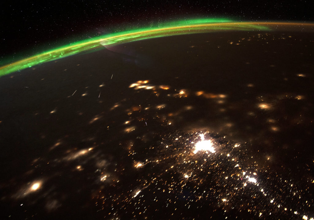 Meteor shower from space