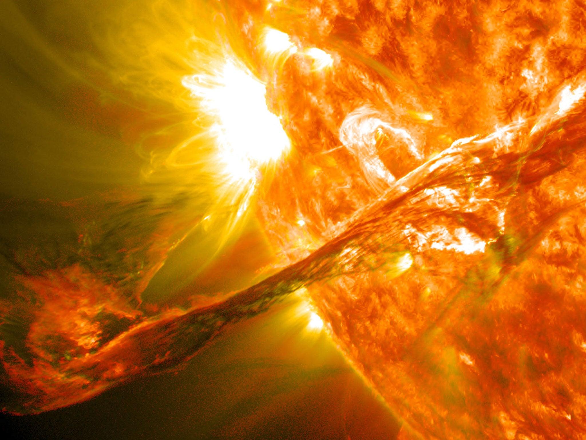 Solar eruption, 2012