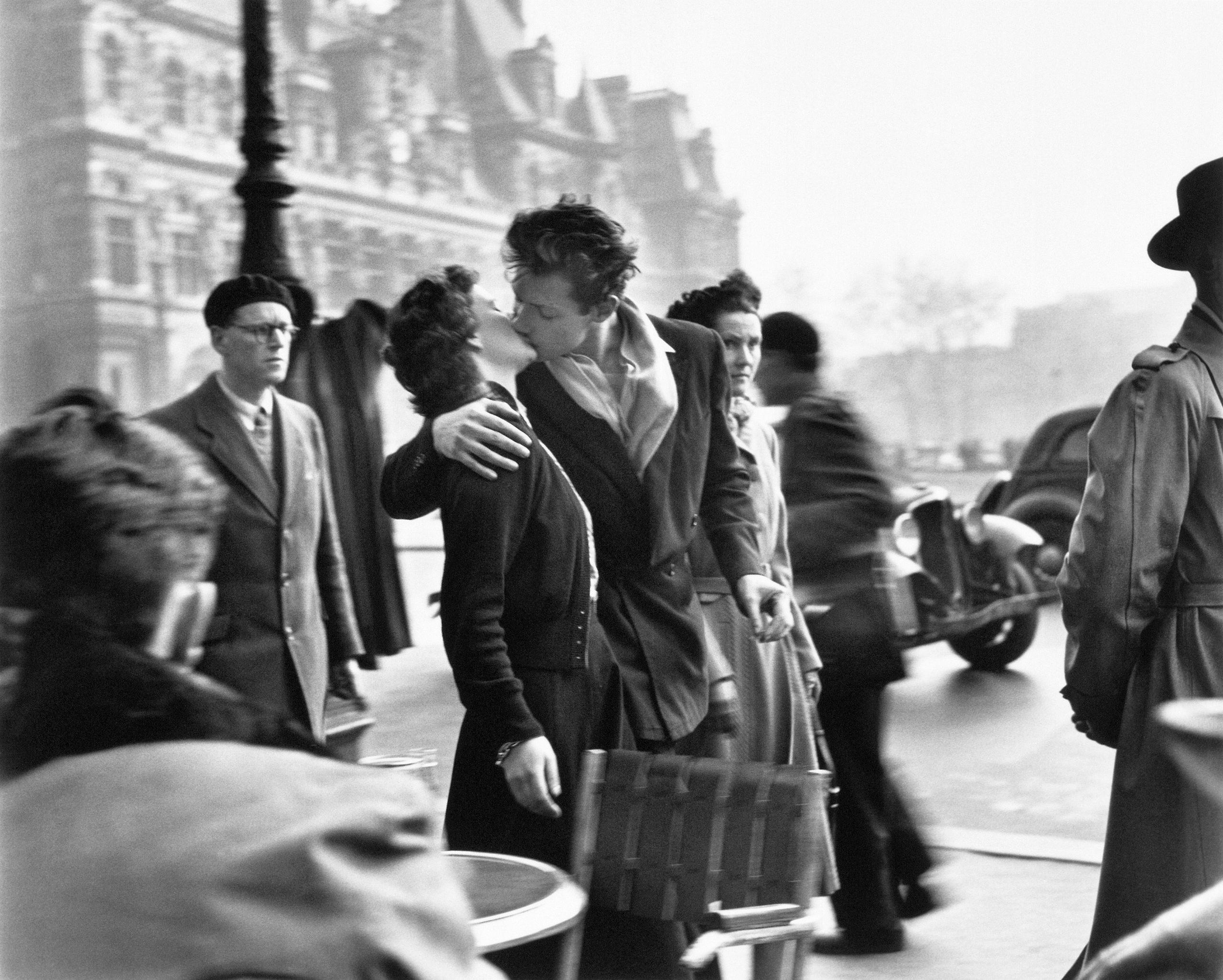 Le Baiser de l'hôtel de ville, Paris, 1950