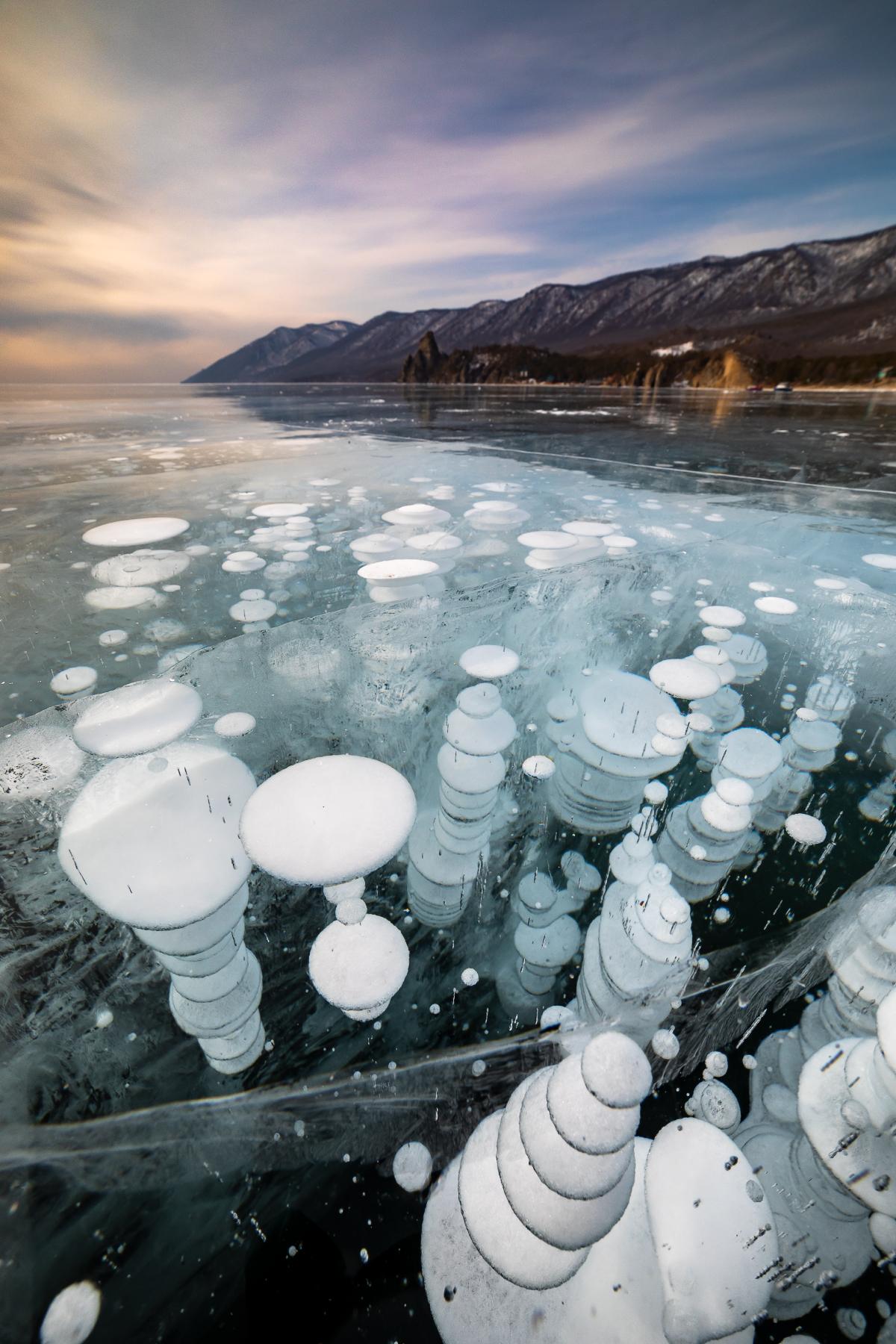 Bubbles, Lake Baikal, Russia