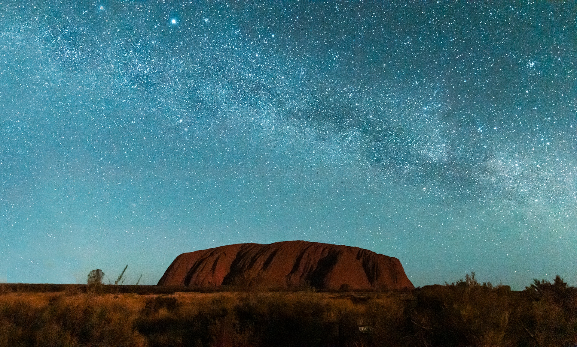 Ayers Rock under the Milky Way